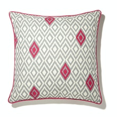 Deree Cushion Cover - Grey & Fuchsia