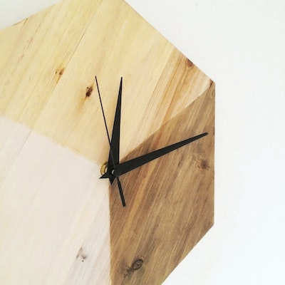 Scandinavian Hexagon Clock - Image 2