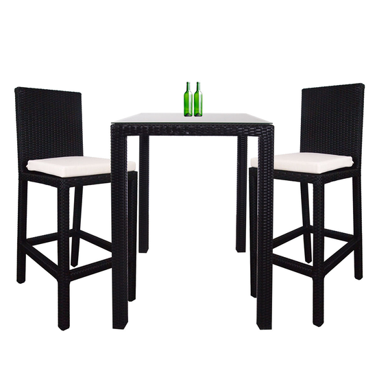 Arena Living - Midas Couple Outdoor Bar Set with White Cushion
