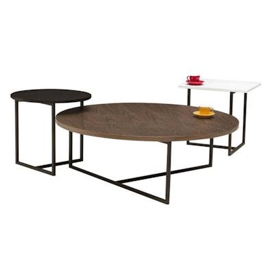 Felicity Rectangular Side Table - White, Matt Black