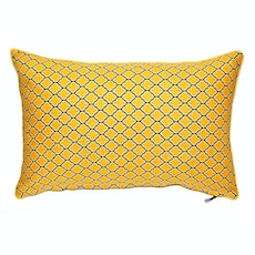 Bloom Rectangle Cushion - Vintage Yellow