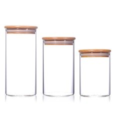 Wooden Lid Storage (Set of 3)