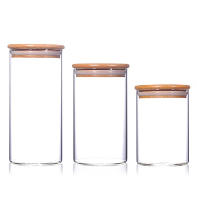 Wooden Lid Storage (Set of 3)