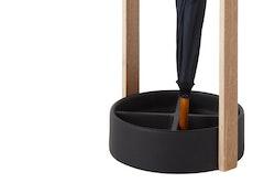 Hub Umbrella Stand - Black/Natural