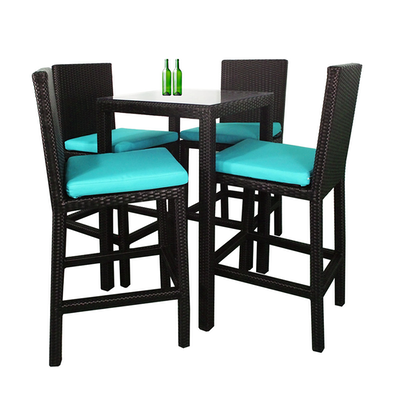 Midas Dining Set with 4 Chair and Blue Cushion - Image 2