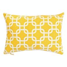 Lattice Rectangle Cushion - Yellow