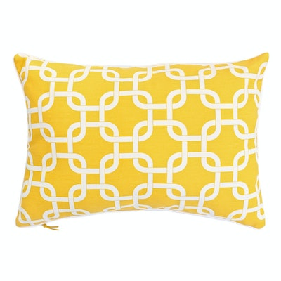 Lattice Rectangle Cushion - Yellow - Image 1