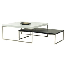 Berlin Square Coffee Table - Black Ash, Matt Black