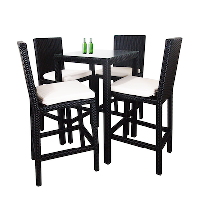 Midas Dining Set with 4 Chair and White Cushion - Image 2