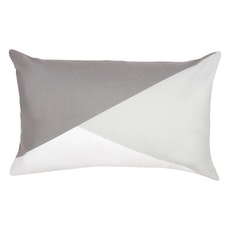 Colourblock Lumbar Cushion - Light/Dark Grey
