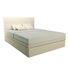 Doni Maximo King Storage Bed - Cream (For 25 cm mattress height)