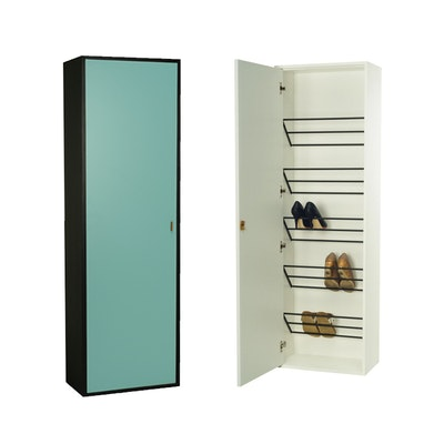 Taber Shoe Cabinet - Light Green - Image 2