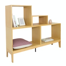 Hugh Oak Shelf Set - A