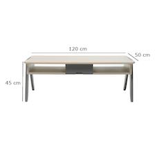Alan Coffee Table - Natural, Grey - XI