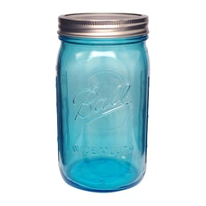 Ball Elite Wide Mouth 32 oz Mason Jars (Set of 4) - Blue