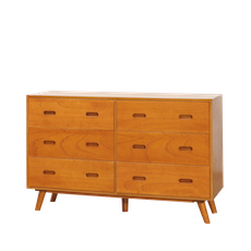 Retro 6-Drawer Wide Cabinet