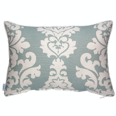 Berlin Rectangle Cushion - Snowy Blue