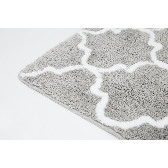 1688 - Lattice Mat 45 x 65 cm- Grey
