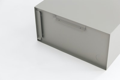 Baxter Rectangular Metal Box Shelf - Matt Grey - Image 2