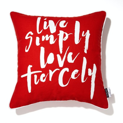 Live Simply Love Fiercely Cushion Cover - Image 1
