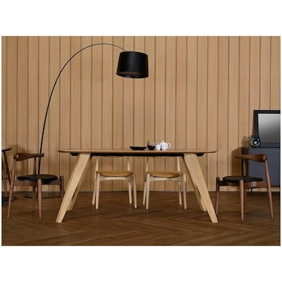 Ryder Dining Table 1.8m - White Lacquered, Oak - Image 2