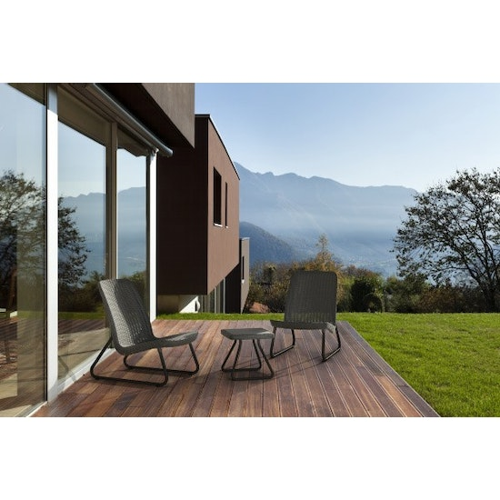Keter - Rio Patio Set - Dark Grey