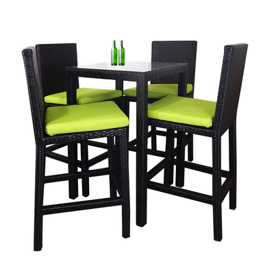 Midas Dining Set with 4 Chair and Green Cushion