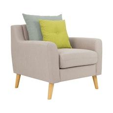 Stockholm Armchair w/ Cushions - Sand