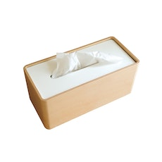 Stock Tissue Holder - White