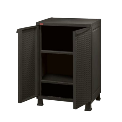 Rattan Wall and Base with Legs - Dark Brown - Image 1