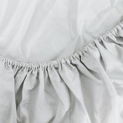 LUXE Fitted Bed Sheet - Glacier Grey (Single)