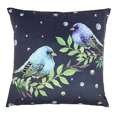 Blue Chirps Cushion Cover