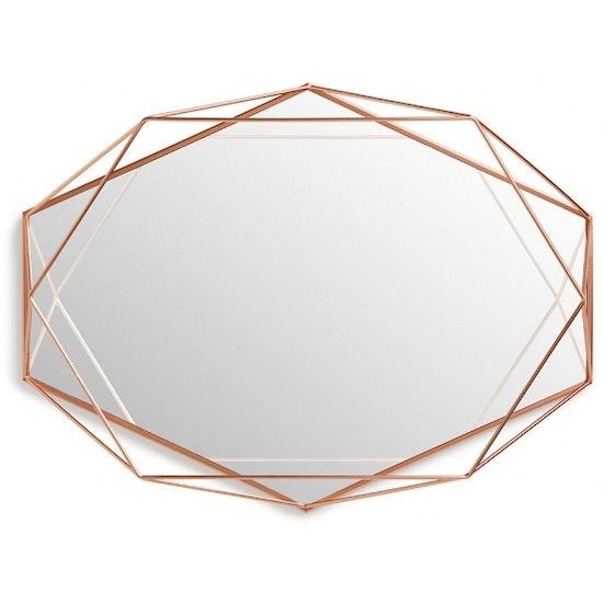 Umbra prisma mirror tray copper hipvan for Miroir umbra