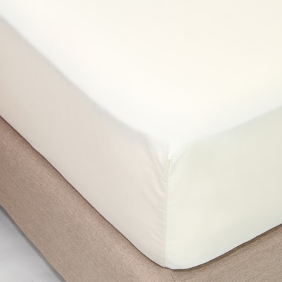 (Single) LUXE Fitted Bed Sheet - Ivory - Image 1