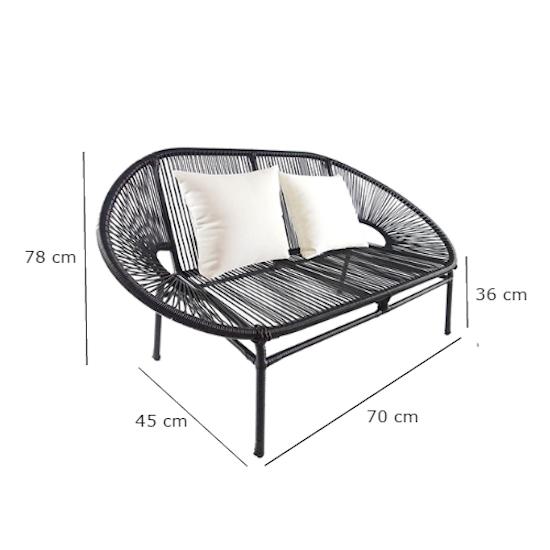 Arena Living - Shelton Sofa Set with White Pillow