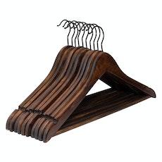 Wooden Hangers (Set of 10) - Walnut