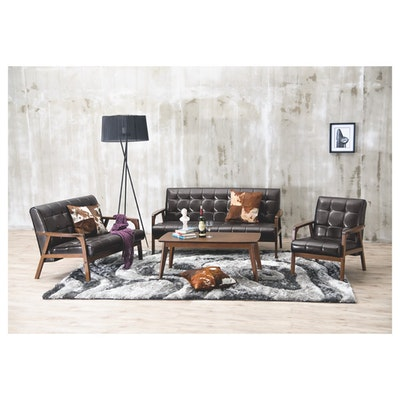 Tucson 3 Seater Sofa - Natural, Chestnut - Image 2