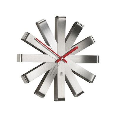 Ribbon Wall Clock - Steel
