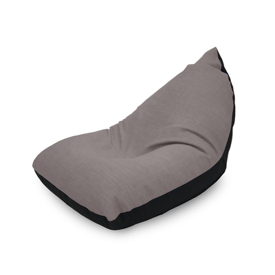 Doodle Triangle Bean Bag - Grey, Light Purple - Image 1