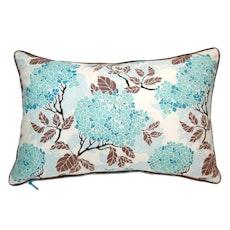 Hydrangea Rectangle Cushion - Egg Blue