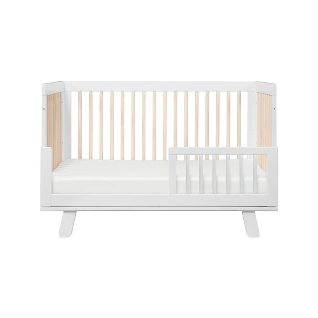 Babyletto Hudson 3-in-1 Convertible Crib - White & Washed - 1