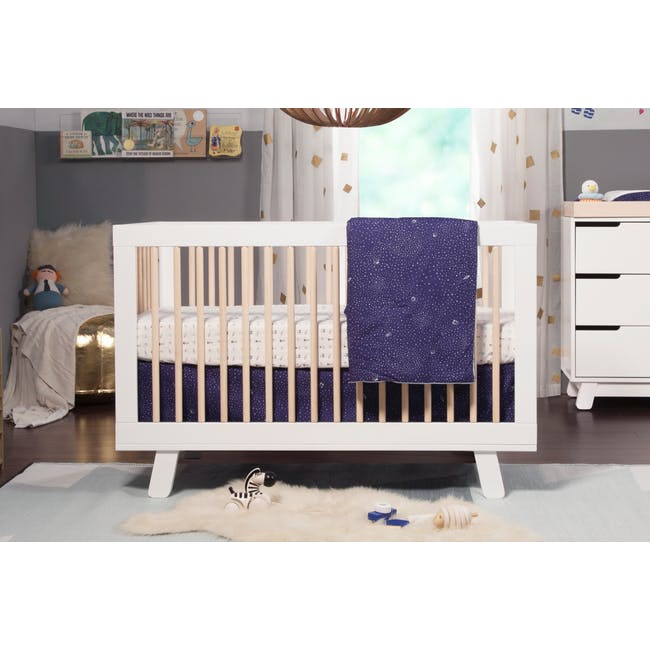 Babyletto Hudson 3-in-1 Convertible Crib - White & Washed - 3