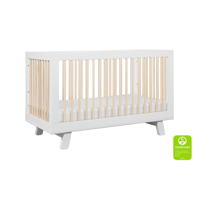 Babyletto Hudson 3-in-1 Convertible Crib - White & Washed - 4