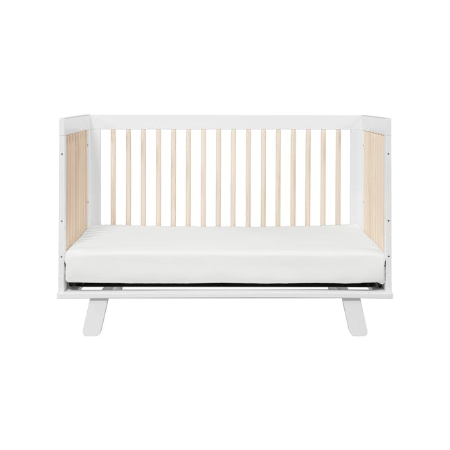Babyletto Hudson 3-in-1 Convertible Crib - White & Washed - 2