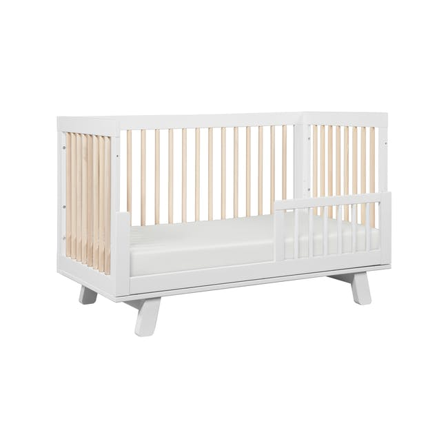 Babyletto Hudson 3-in-1 Convertible Crib - White & Washed - 5