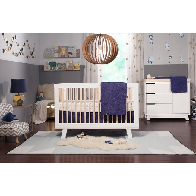 Babyletto Hudson 3-in-1 Convertible Crib - White & Washed - 7