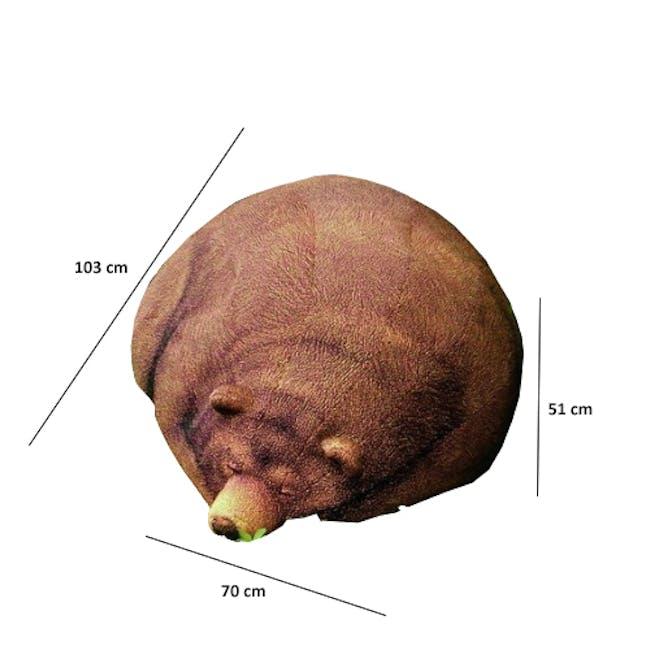 Sleeping Grizzly Bear Bean Bag - 1