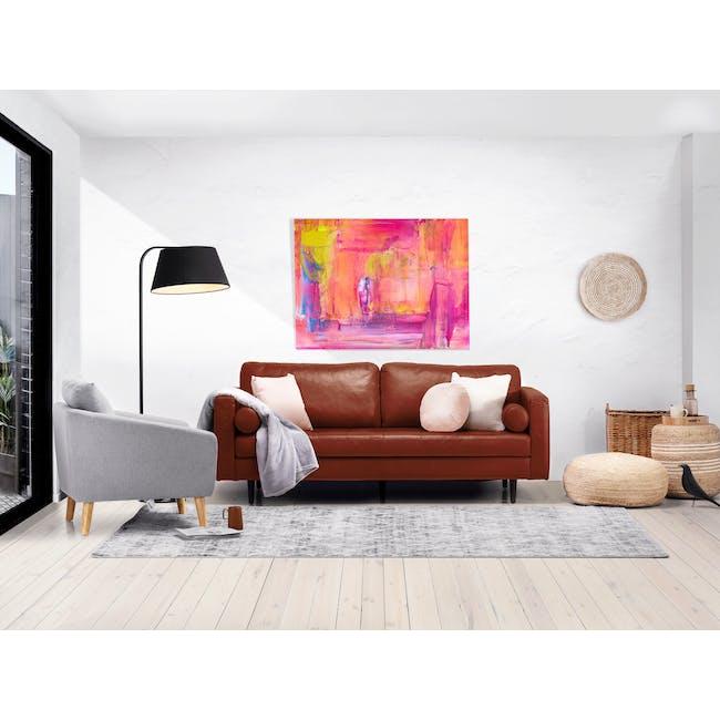 Nolan 3 Seater Sofa - Cigar (Premium Waxed Leather) - 1