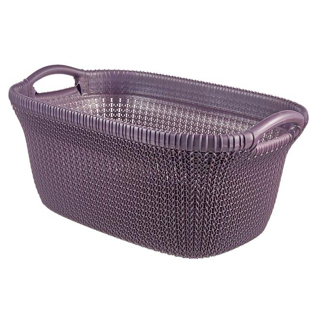 Knit Laundry Basket 40L - TW Purple - 0