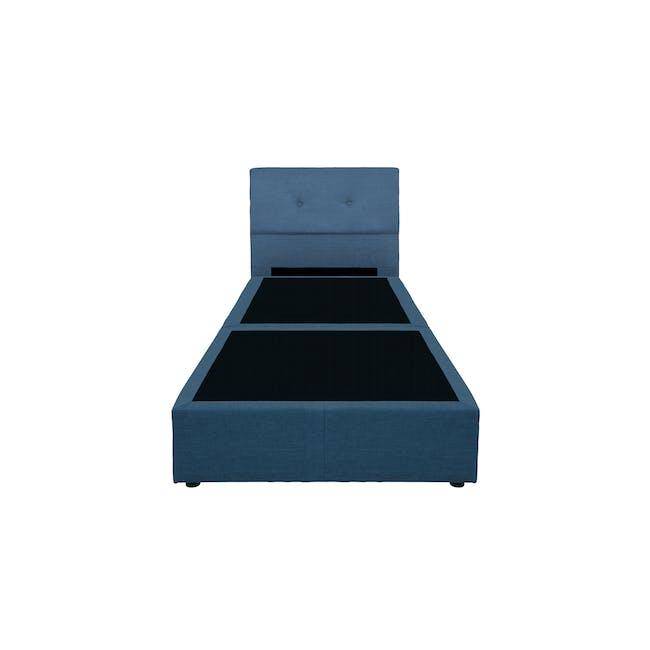 ESSENTIALS Super Single Headboard Box Bed - Denim (Fabric) - 1